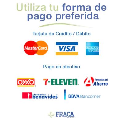 Formas de pago en FRACA